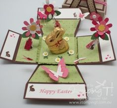 Stampin' Up! Stamping T! - Easter Basket Surprise Box Open
