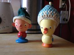 Healthy Breakfast - Hard boiled egg fun, with these two characters! Read the story behind them...