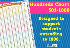 Hundreds Chart - 501-1000