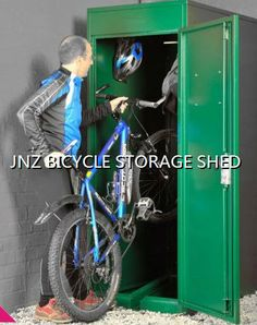 Durable JNZ outdoor bike storage shed