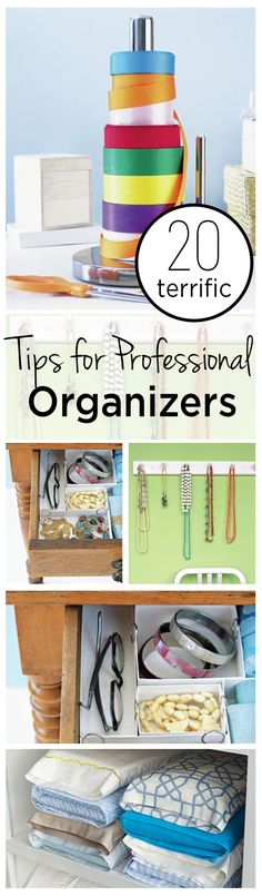 20 Terrific Tips for Professional Organizers (1)