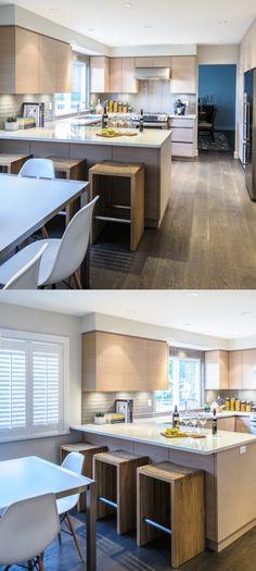 Kitchen Peninsula Ideas ( Basics, Pros & Cons , Design Ideas) - Must-Have Kitchen - Home decor interests Small Kitchen Diner, Best Kitchen Layout, Small Kitchen Layouts, Kitchen Redo, Kitchen Remodel, Kitchen Ideas, Peninsula Kitchen Design, Kitchen Hood Design, Modern Kitchen Design