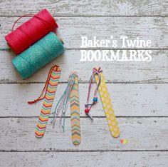 Marcapáginas con baker twine y washi tape Popsicle Stick Crafts, Craft Stick Crafts, Crafts To Make, Crafts For Kids, Popsicle Sticks, Creative Bookmarks, Bookmarks Kids, Diy Felt Christmas Tree, Book Markers