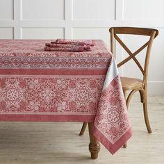 Snowflake Jacquard Tablecloth, 70