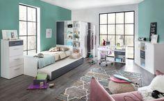 Wimex Anpassbares Schlafzimmer-Set Joker 90 x 200 cm Loft Style, Loft Bed, Sectional Living Room Layout, Bed, Kids Bed Canopy, Loft Design, Dressing Room Design, Modern Bed, Bed With Slide