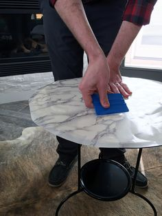 IKEA hack, lindved table, marble top side table, marble contact paper
