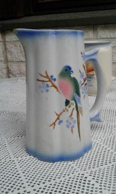 Arabia Papukaijakannu 1l Pots, Cheese Dome, Kitchenware, Tableware, Marimekko, Vintage Pottery, Animal Paintings, Finland, Old Things
