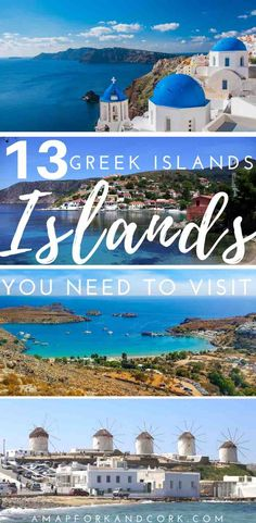 13 beautiful Greek islands to add to your island hopping itinerary. Travel tips on how to go off the beaten path, things to do, and the best beaches. |Greece| |Travel| |Islands| |Beautiful Places| |Beach| #Greece #Travel
