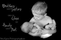 """Brothers and sisters are as close as hands and feet"""