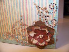 Shabby Chic Mini Scrapbook Album Handmade Flowers by HSipesStudio, $18.00
