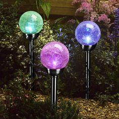 Balise solaire Majestic, en nickel noir H. Globe, Lighting, Gardens, Light Fixtures, Terrace, Speech Balloon, Lights, Lightning