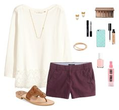 """""""Cute"""" by laurenemcclain ❤ liked on Polyvore featuring H&M, J.Crew, Carolee, Kate Spade, Christian Dior, Essie, Urban Decay, Jack Rogers, Bobbi Brown Cosmetics and Uncommon"""