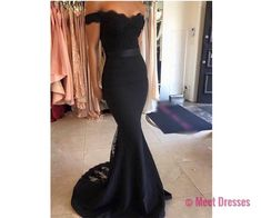 Black Prom Dresses,Mermaid Prom Dress,Lace Prom Dress,Lace Prom Dresses,2018 Formal Gown,Lace Evening Gowns,Party Dress,Lace Prom Gown For Teens PD20183304