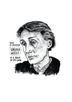 Virginia Woolf poster print Great Writers by StandardDesigns