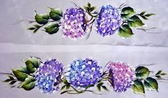Resultado de imagem para pintura em tecido hortênsias riscos