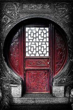 shanghai architecture old Red door. Cool Doors, The Doors, Unique Doors, Entrance Doors, Windows And Doors, Grand Entrance, Round Windows, Cave Entrance, Art Nouveau
