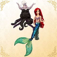 Disney limited edition designer good vs. evil Ariel and Ursula. Limited to 6,000
