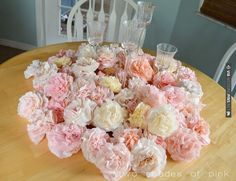 Coffee filter flowers ~ a super cheap, pretty and fun DIY decor idea! | CHECK OUT MORE IDEAS AT WEDDINGPINS.NET | #weddings #weddinginspiration #inspirational