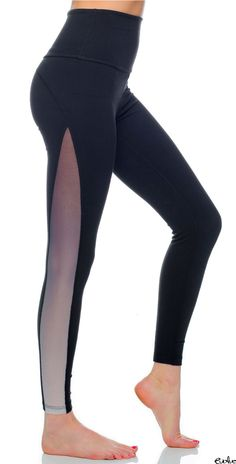 Beyond Yoga's new leggings have ombre mesh inserts for a sexy and sleek look you must have! Shop now at www.evolvefitwear.com.