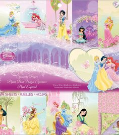 "Disney® Princess Specialty Paper Pad 12""X12"" 24 Sheets-"