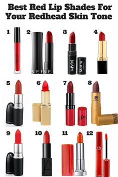 BEST RED LIP SHADES FOR YOUR REDHEAD SKIN TONE | How to be a Redhead