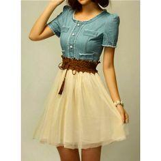 http://www.dresslily.com/scoop-neck-short-sleeve-denim-splicing-chiffon-dress-with-belt-for-women-product609174.html