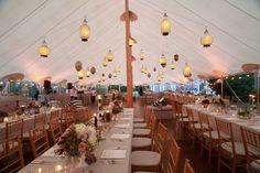 Wedding tent lighting