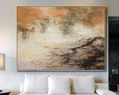 Extra Large wall art, Abstract Painting, Contemporary Art, Blue Oil Painting, Large Canvas Art, Paintings On Canvas, Landscape Painting, Art