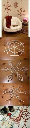 Lolly pop snowflakes