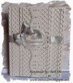 Silver Wedding Anniversary layered card