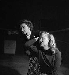 Marilyn taking acting lessons with her drama coach, Natasha Lytess. Photo by J.R Eyerman, 1949.