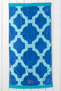 Tile towels for the beach and pool