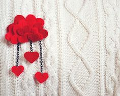Heart pin. Would be so cute as a white cloud with hearts raining down