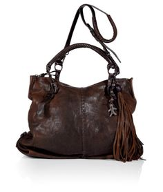 7ac8850ab1d HENRY BEGUELIN Mahogany Brown Manao Tote With Shoulder Strap Mahogany Brown