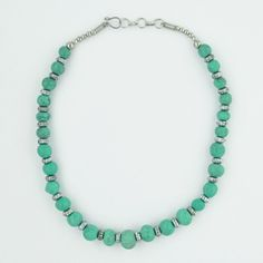 A boho chic take on the classic choker necklace style, our turquoise pebbles necklace is an awesomely exotic accent for any outfit! $9