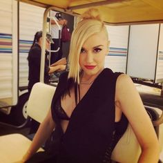 On set at the Voice - Gwen