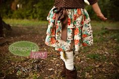 fall tiered skirt...find more at Graciousmay.com