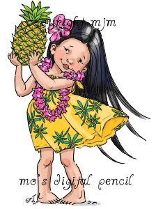 Mo's Digital Pencil - pineapple girl, $3.00 (http://www.mosdigitalpencil.com/pineapple-girl/)