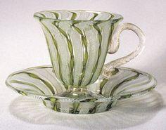 Bohemian Glass tea cups