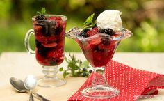 Желе из шампанского и лесных ягод с указанием калорийности и пищевой ценности