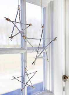 Christmas wooden stars for window