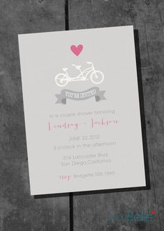 Lips and mustache wedding shower invitationoriginal original save the date or couple shower bicycle built for two by itsybelle 1000 filmwisefo Choice Image