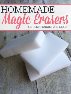 Save money while cleaning with these easy homemade magic erasers. They cost just pennies per sponge and clean just as good as the store-bought kind.