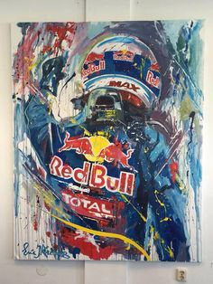 An an artistic rendition of The Flying Dutchman! Red Bull F1, Red Bull Racing, Racing Team, Redbull Logo, Stock Car, Speed Art, Grand Prix, Motorcycle Art, Car Posters