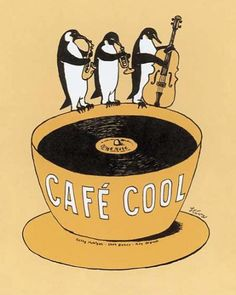 Cool jazz, hot coffee...what a combo!
