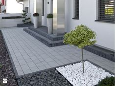 40 Fabulous Modern Garden Designs Ideas For Front Yard and Backyard Terrace Decor, Front Yard Landscaping, Back Gardens, Modern Garden, Modern Garden Design, Driveway Design, Garden Stairs