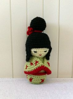 Sweet #Kokeshi Doll #amigurumi #doll