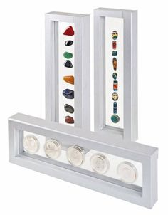 What a cool way to display a rock or crystal collection!