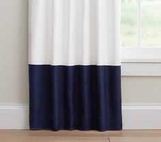 Blackout curtains for downstairs. Find matching for sliding door off of extension.