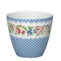 GreenGate Ivy Latte Cup Blue